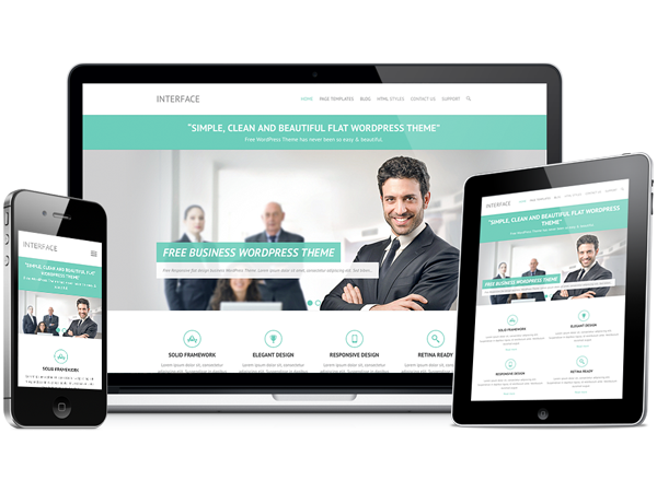 free business wordpress theme interface