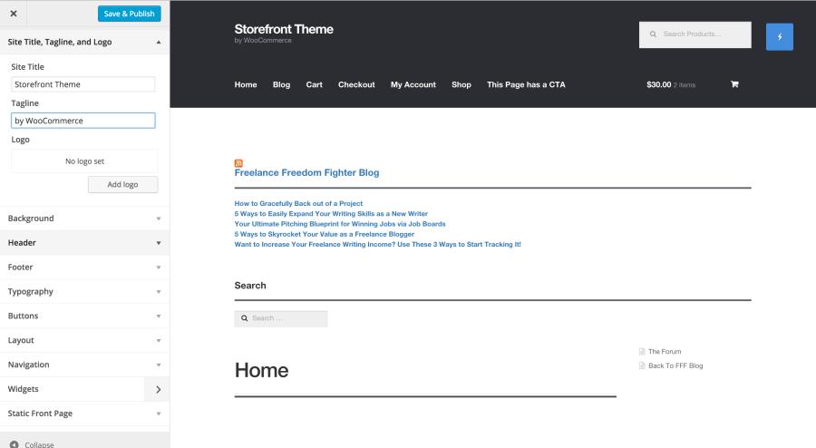 Customizing WooCommerce Theme Storefront