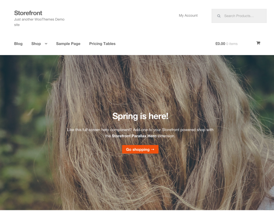 Storefront by WooThemes