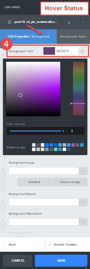 Color blend hover - step 4