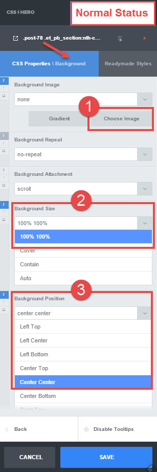 Image zoom hover - steps 1-3