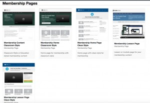Some of available Membership page templates in OptimizePress