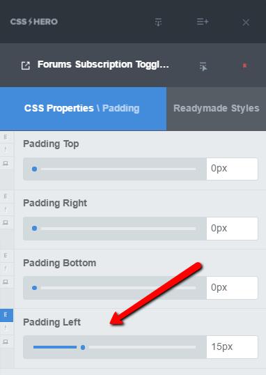 Add padding to move bbPress subscription toggle