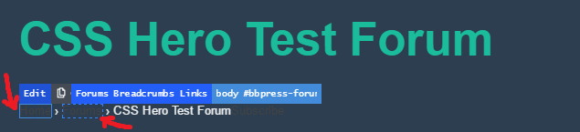 bbPress breadcrumbs links are not visible on a dark theme