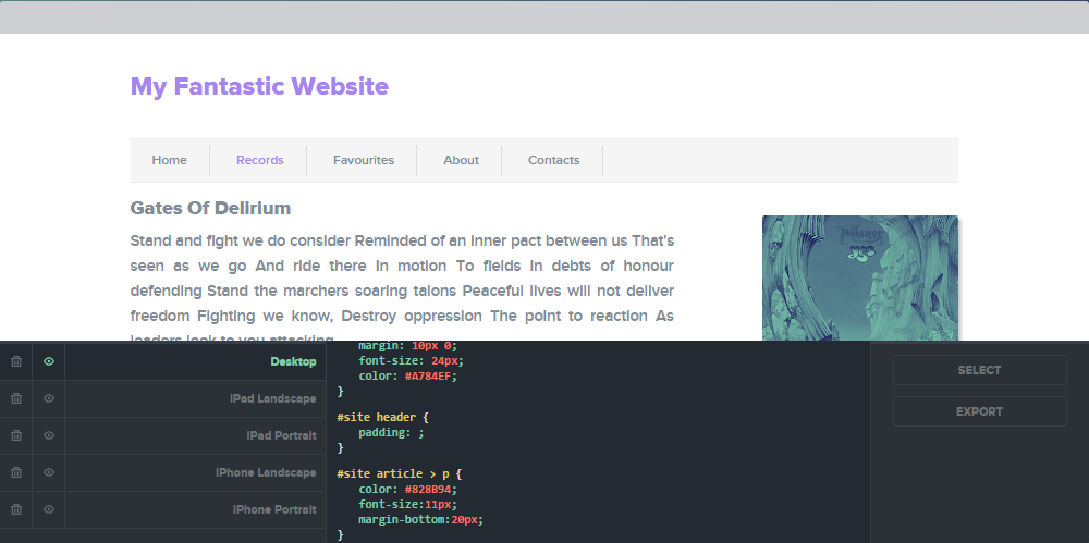 Review and edit CSS Hero-generated code with Inspector Pro