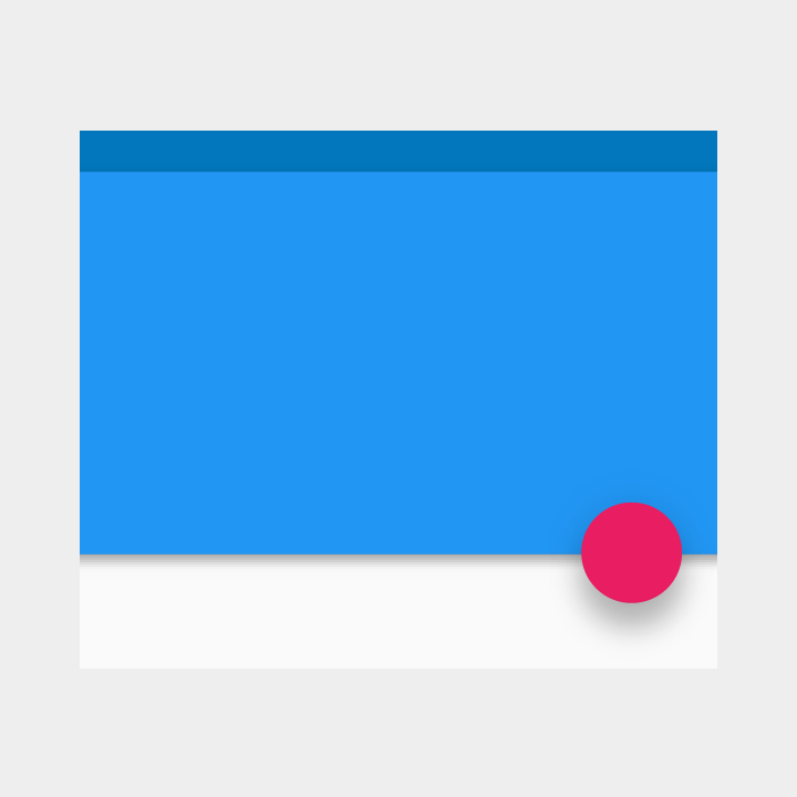 elevation and shadow in material design