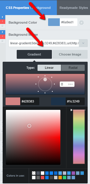 how to change link color in css