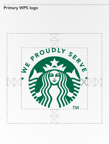 Starbucks logo clear space guidelines