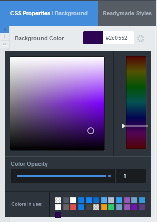 Type in your palette colors or find additional shades and tints with CSS Hero Color Picker