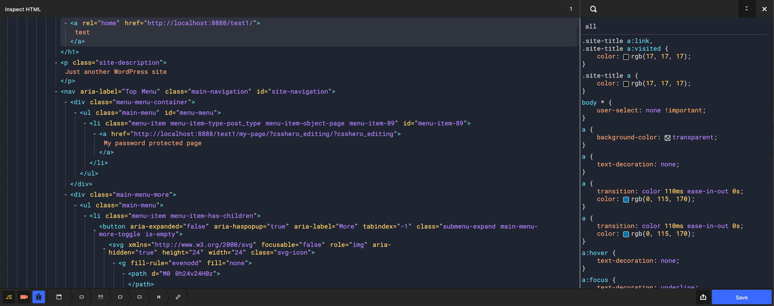 CSS Hero CSS HTML Inspector