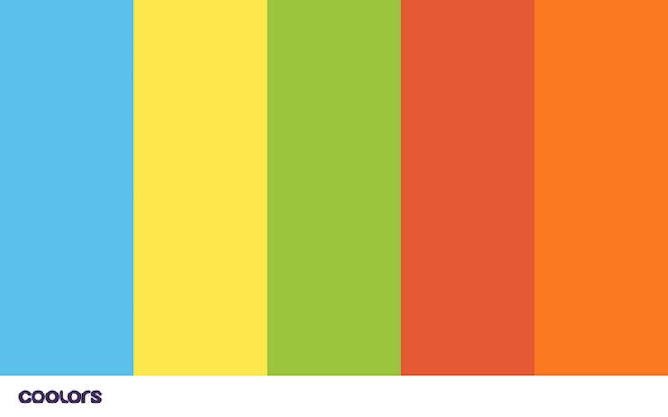 Css style color palette