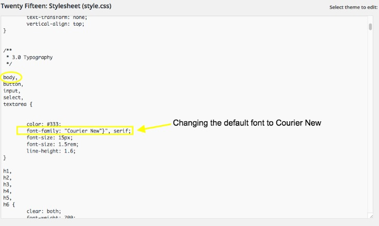 font family in css