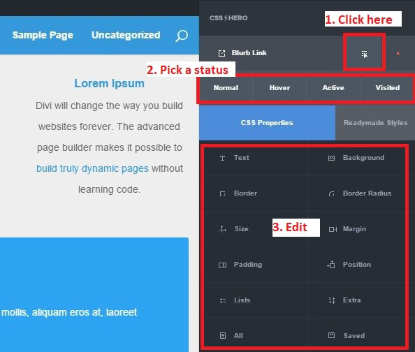 CSS Hero Status Editor Tool