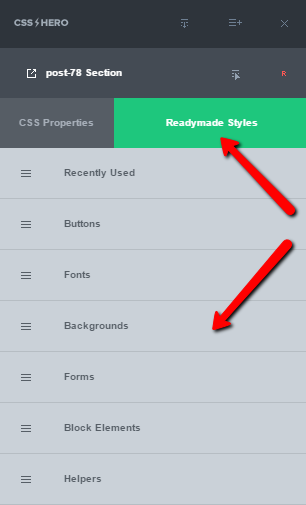 CSS Hero Readymade Styles
