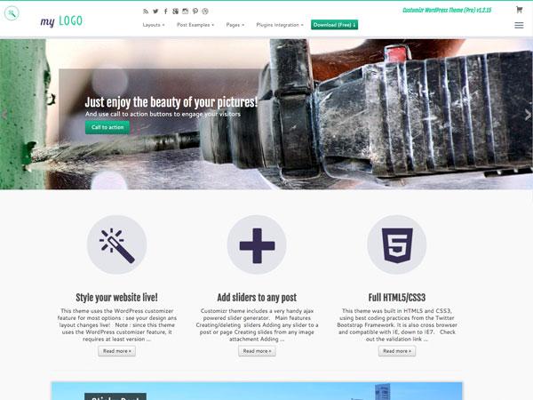 Customizr WordPress theme and CSS Hero Live Design editor
