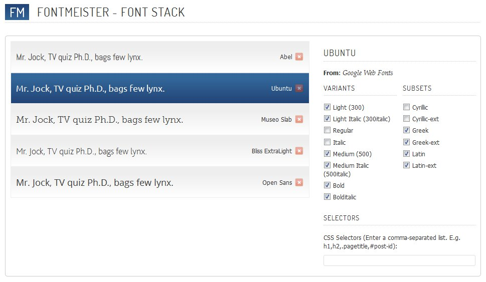 FontMeister plugin preview your fonts