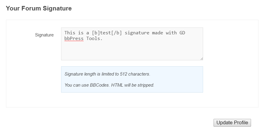 Add forum signatures and other useful features with GD bbPress Tools
