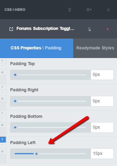Add padding to move bbPress subscription toggle