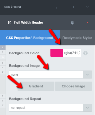 Easily pick and set bold background colors with CSS Hero