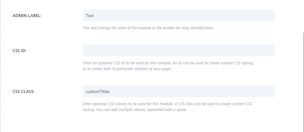 Adding CSS custom class in Divi theme
