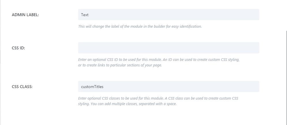 Adding CSS custom class in Divi theme