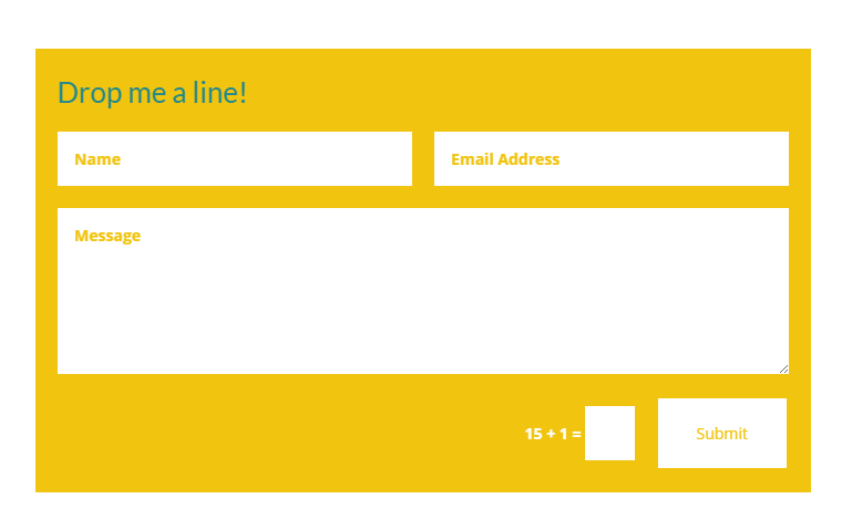 Bright color makes this contact form stand out better