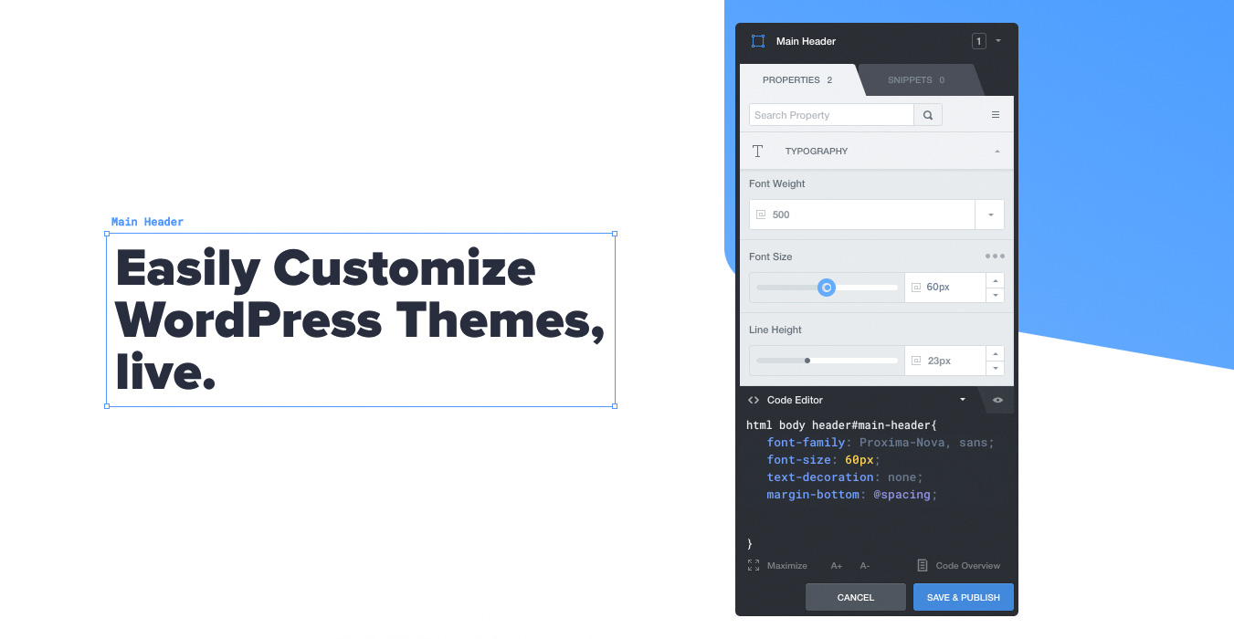 Customize Wordpress Themes Live Css Hero Visual Css Editor