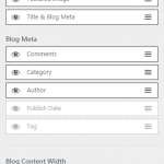 Astra WP theme blog settings