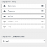 Astra WP theme post settings
